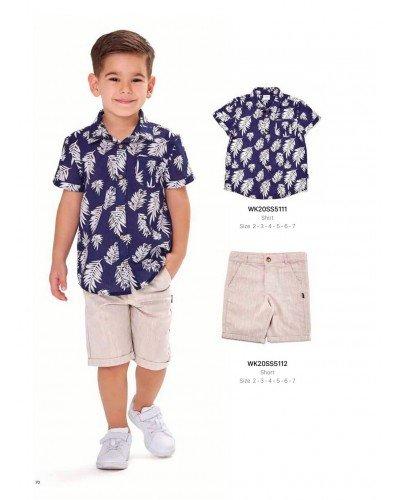 Рубашка на мальчика WONDER KIDS 5111 ТУРЦИЯ