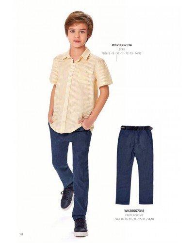 Рубашка на мальчика WONDER KIDS 7314 ТУРЦИЯ