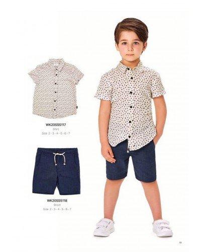 Рубашка на мальчика WONDER KIDS 5117 ТУРЦИЯ