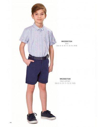 Рубашка на мальчика WONDER KIDS 7324 ТУРЦИЯ
