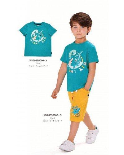 Футболка на мальчика WONDER KIDS 5000-Y ТУРЦИЯ