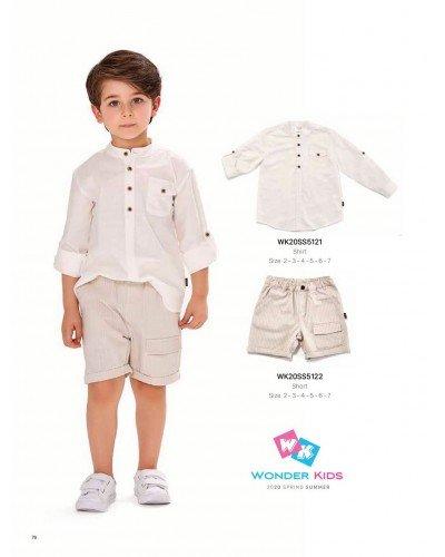 Рубашка на мальчика WONDER KIDS 5121 ТУРЦИЯ