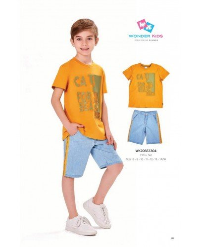 Комплект 2-ка на мальчика WONDER KIDS 7304 ТУРЦИЯ