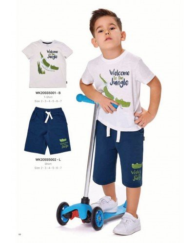 Футболка на мальчика WONDER KIDS 5001-B ТУРЦИЯ