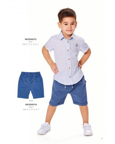 Рубашка на мальчика WONDER KIDS 5113 ТУРЦИЯ