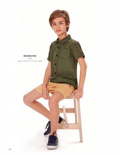 Рубашка на мальчика WONDER KIDS 7316 ТУРЦИЯ