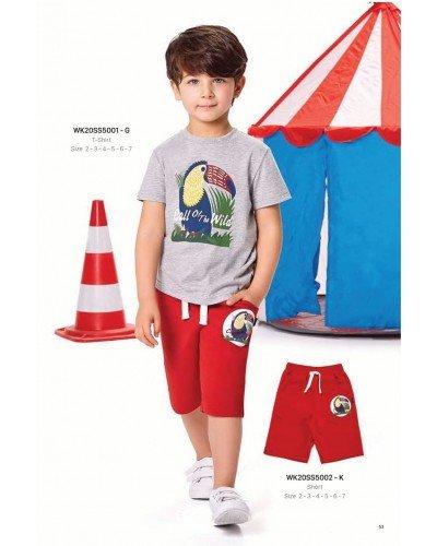Футболка на мальчика WONDER KIDS 5001-G ТУРЦИЯ