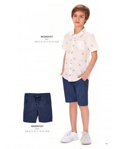 Рубашка на мальчика WONDER KIDS 7317 ТУРЦИЯ