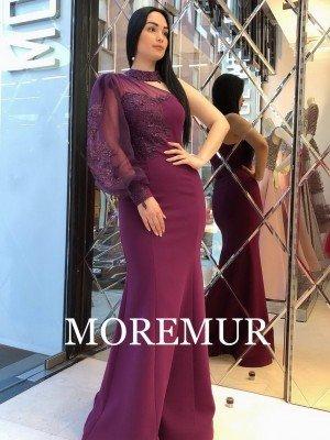 Вечернее платье MOREMUR IMG-60-WA0305 ТУРЦИЯ
