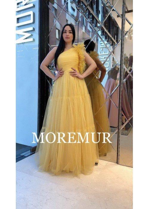 Вечернее платье MOREMUR IMG-70-WA0310 ТУРЦИЯ